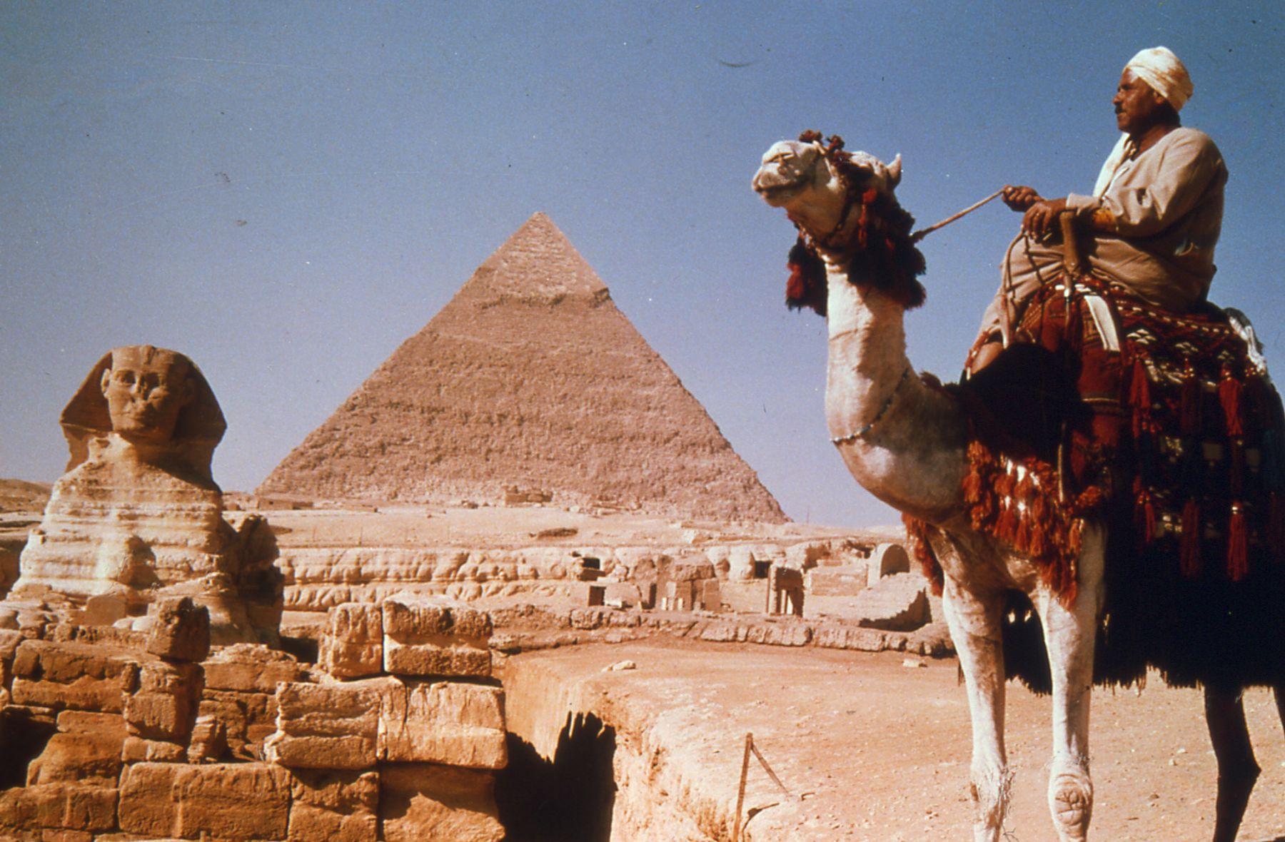 埃及金字塔紧邻城市